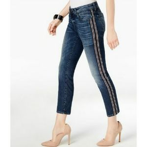 Kut from the Kloth Catherine Striped Ankle Jean's